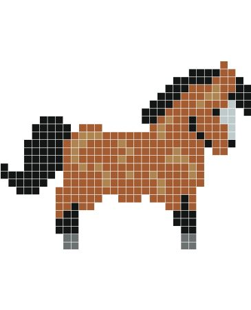 Les 25 meilleures id es de la cat gorie pixel art kawaii facile sur pinterest argile polym re - Comment dessiner un poney ...