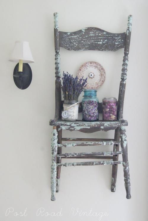 chair. lavender. wall. vintage.