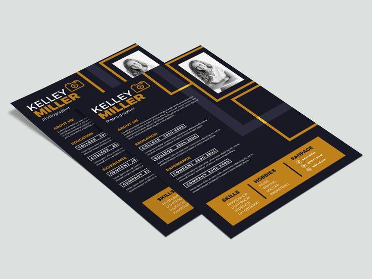 Free Flat Illustrator Resume Template For Job Seeker Resume Template Resume Resume Template Free