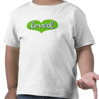 Toddler T-shirt Green heart design