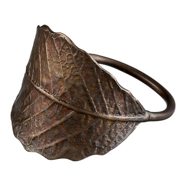 http://www.crateandbarrel.com/dining-and-entertaining/napkin-rings/leaf-napkin-ring/s351362