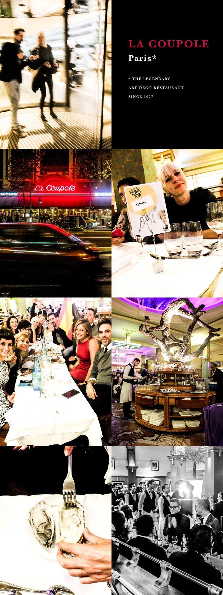 """Restaurant La Coupole Paris. Silke von Rolbiezki Coiffure on tour in ♡ Paris for the """"Beauty Stylist Award 2014"""" hosted by La Biosthétique Paris.  Proudly presented by Silke von Rolbiezki Coiffure, Palma de Mallorca, Spain www.silkevonrolbiezki.com"""