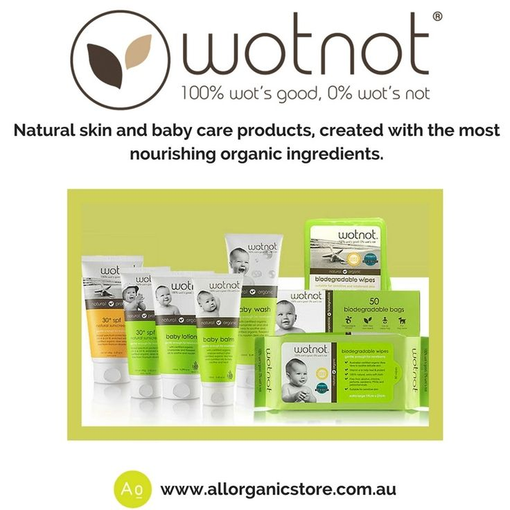 Are you looking for a safe and natural baby care range that will look after your baby's skin? Wotnot is a natural range with organic ingredients - no toxic or harmful ingredients.