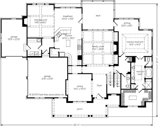 17 best images about floor plans with large garages 3 or On southern living house plans with keeping rooms