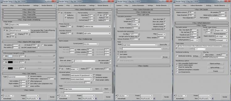 vray rendering setup