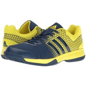 adidas Ligra 4 (Bright Yellow/Mystery Blue) Men's Volleyball Shoes
