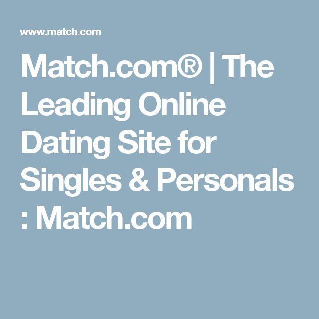 Online dating site for singles and personals