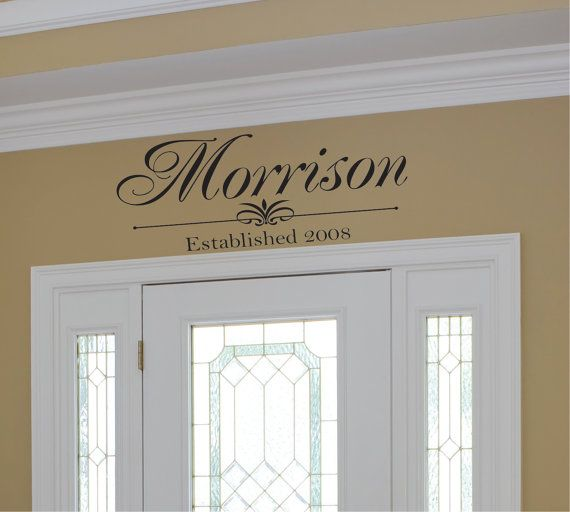 "Family Monogram Vinyl Wall Decal - Family Vinyl Lettering - Family Vinyl Wall Art Decal 14""H x 36"" W on Etsy, $18.00"