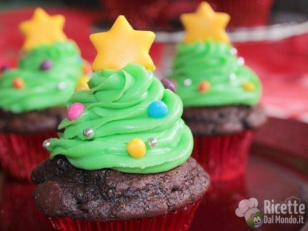 Ricetta dei cupcakes albero di Natale