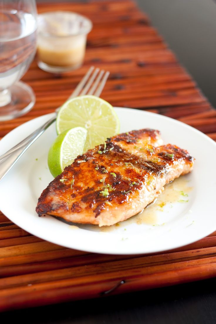 Pan Seared Honey Glazed Salmon with Browned Butter Lime Sauce - The Best Salmon I've Ever Eaten - Cooking Classy