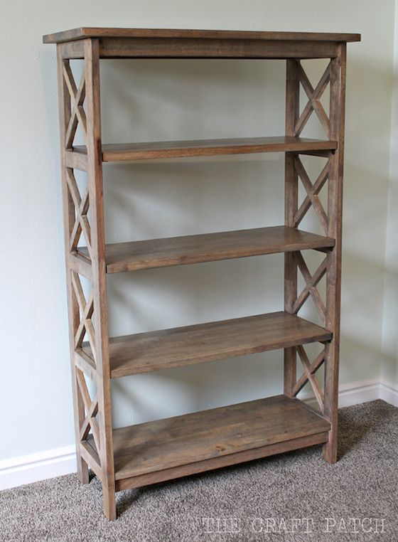 unfinished bookcase to weathered look