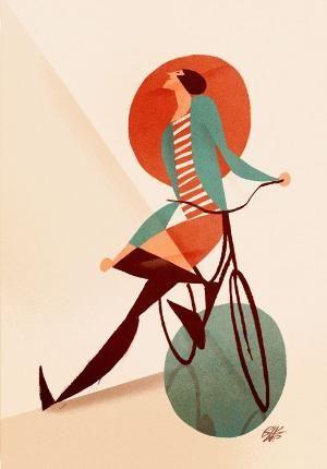 """""""Donna con bicicletta, pozzanghera e cerchio rosso"""" by Riccardo Guasco 2015 by @genevieve"""