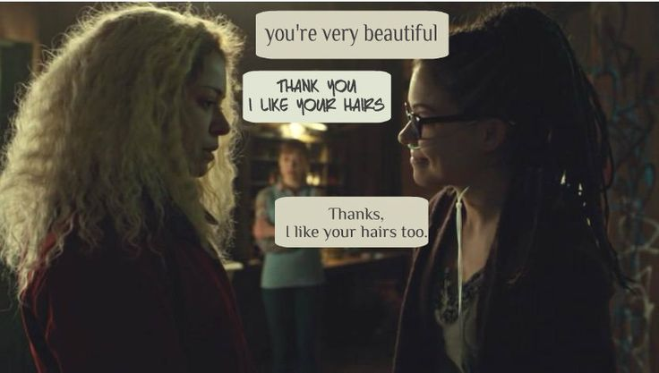This meeting was my favorite. Cosima is so open-hearted, and she just accepts Helena completely from the first moment.
