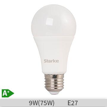 Bec LED STARKE Plus forma standard A60, 9W, E27, 30000 ore, lumina calda 3000K