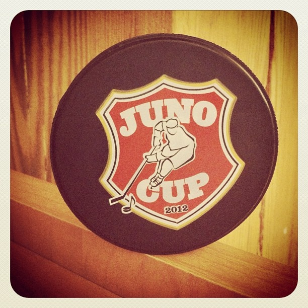 The 2012 #JUNOCup puck!