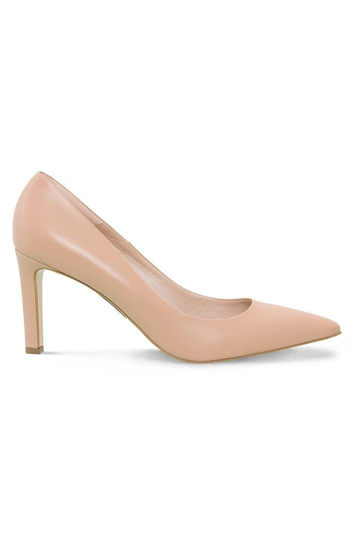 Buty na obcasie - Simple - Szpilki nude klasyczne
