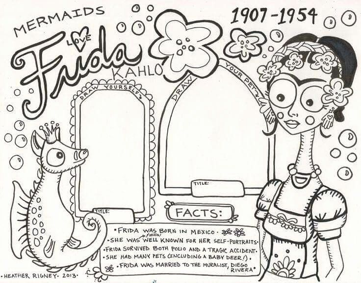 Frida Kahlo Coloring Page New 15 Best Frida Khalo Art Project For