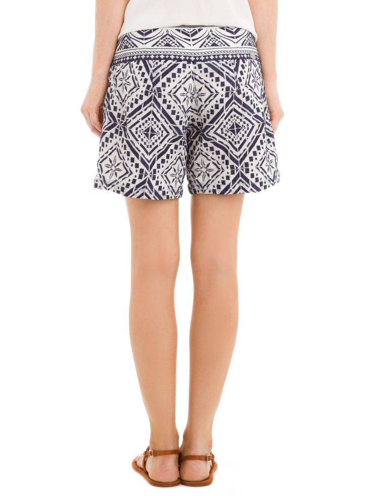 Shorts Feminino Iris - Bo.Bô - Branco e Azul - Shop2gether