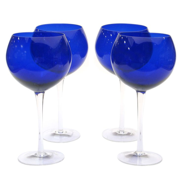 Features:  -Set of 4 28 oz. Red Wine glasses.  -Dishwasher safe.  -Color: Cobalt.  -Collection: Glass Stemware Cobalt.  Product Type: -Red wine glass.  Color: -Blue.  Number of Glasses In Set: -4.  Pr                                                                                                                                                                                 More