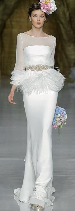 PRONOVIAS - SPRING 2014 lovely hour glass wedding gown
