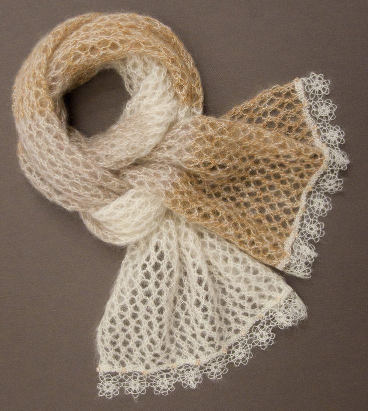 tricoter une belle echarpe