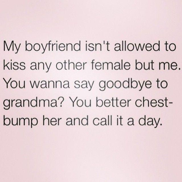 Crazy girlfriends be like..