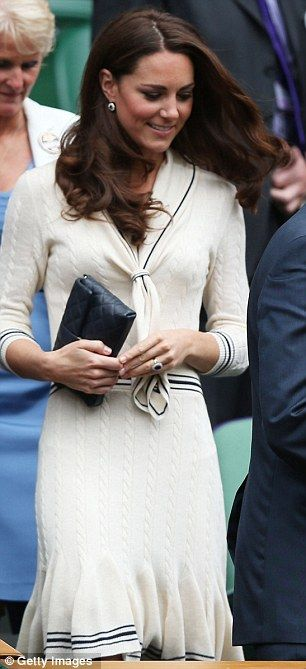 Kate recycles Alexander McQueen dress she wore exactly a year ago to the day for Wimbledon Royal box visit. July 4, 2012