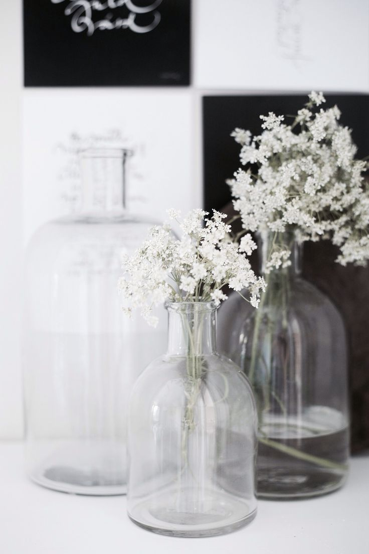 I love glass and flowers, too, especially glass tinted with different colours and arranged together like an artwork.