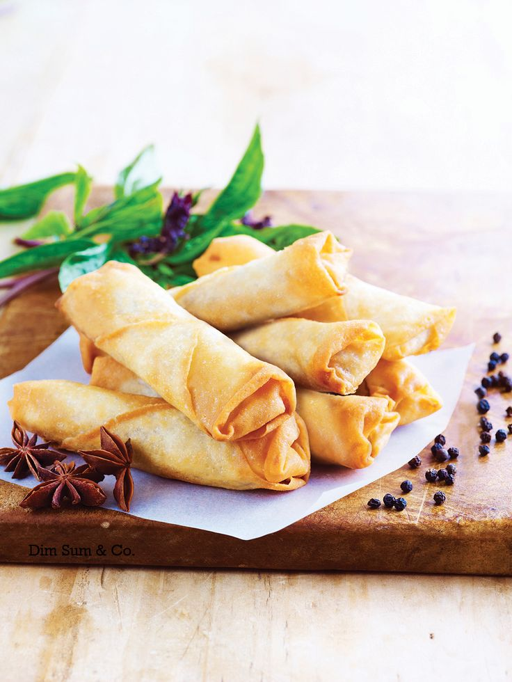 Crispy Peking Duck Spring Rolls - Succulent duck marinated in delicious rich hoisin sauce and traditional spices.