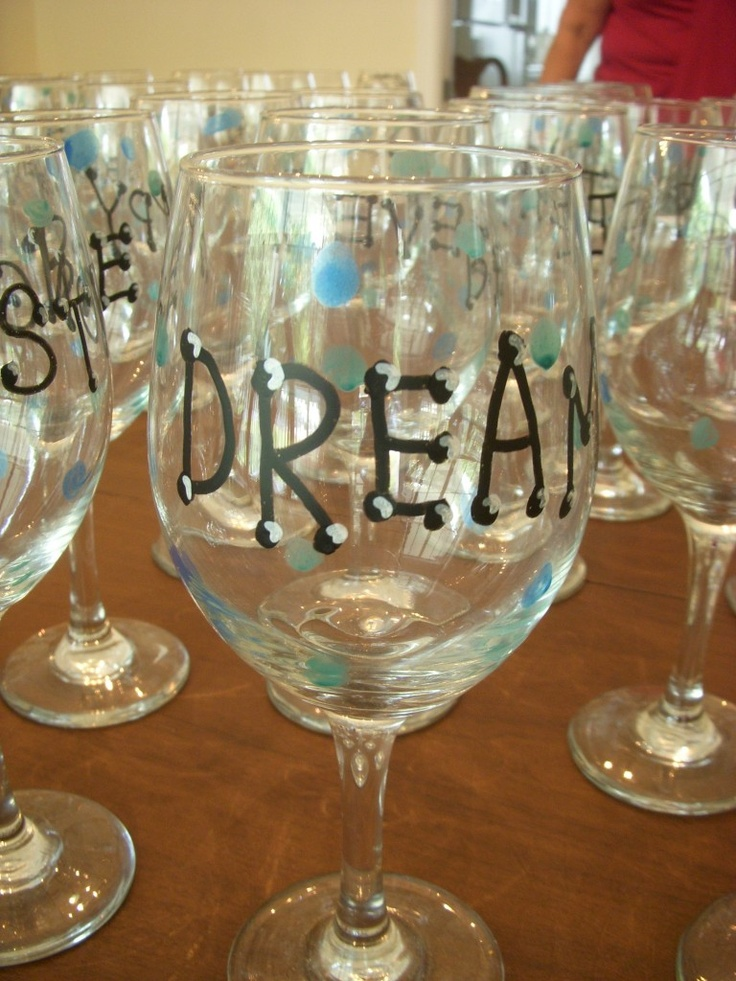 33 best painted wine glasses images on pinterest good for Wine glass painting tutorial