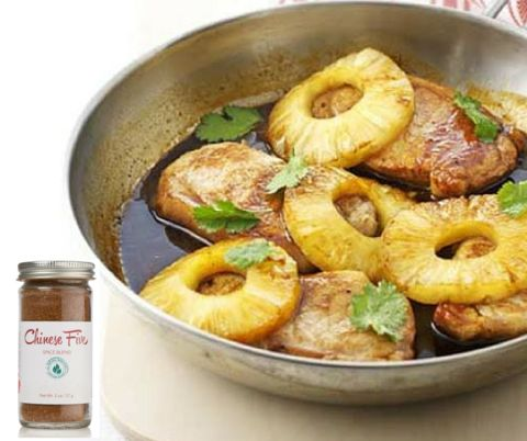 Chinese Five Spiced pineapple pork #ChineseFive #Spiced #Pineapple #Pork #Spice #Recipe
