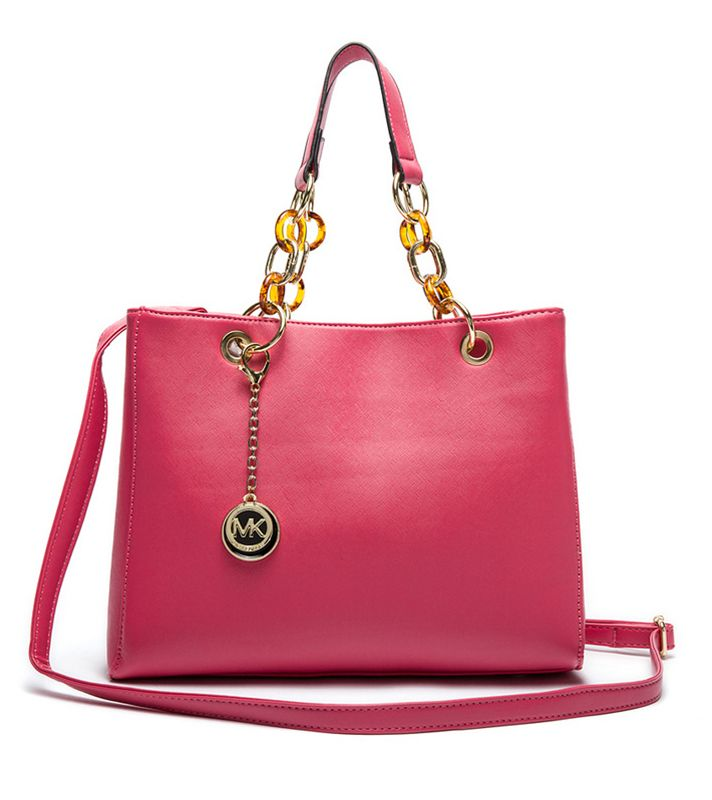 Michael Kors Cynthia Red Leather Satchel