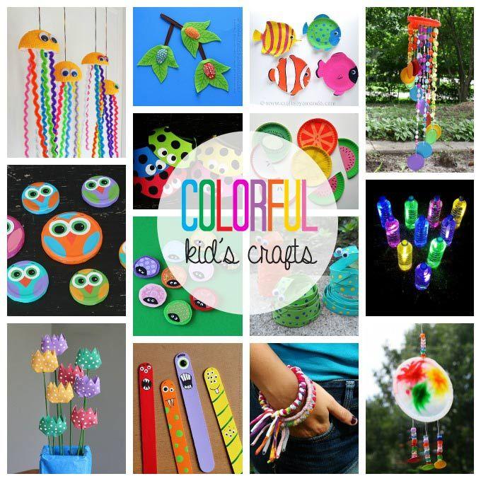 55+ Kleurrijke Kid's Crafts: maak schattige monsters van gerecyclede materialen en andere benodigdheden.  Fun ambachten voor kinderen!