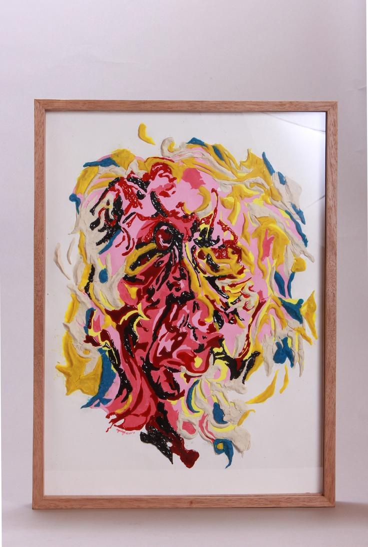 """""""Menyelami Affandi"""" adalah bentuk apresiasi Rega terhadap Affandi Koesoema, pelukis Indonesia dengan pencapaian internasional yang mengadakan pameran tunggal di Houston, Texas, Amerika Serikat dalam rangka festival seni dan kerajinan tangan. Rega menggambar ulang potret diri Affandi untuk menampilkan sudut pandang Affandi dalam melihat dirinya. Emosi Affandi dalam menggambarkan wajahnya tampak dalam statementnya yang mengatakan kesukaannya menampilkan sosok buruk rupa dari kurcaci Sukrasana…"""