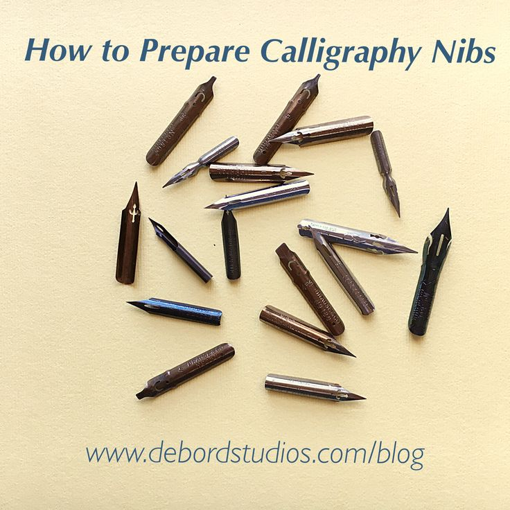 Back to Basics!  Did you know that nibs need a bit of prep before you begin using them?  Click and check out my guide to preparing calligraphy nibs! | Shannon DeBord - DeBord Studios #calligraphy #art #lettering #debordstudios