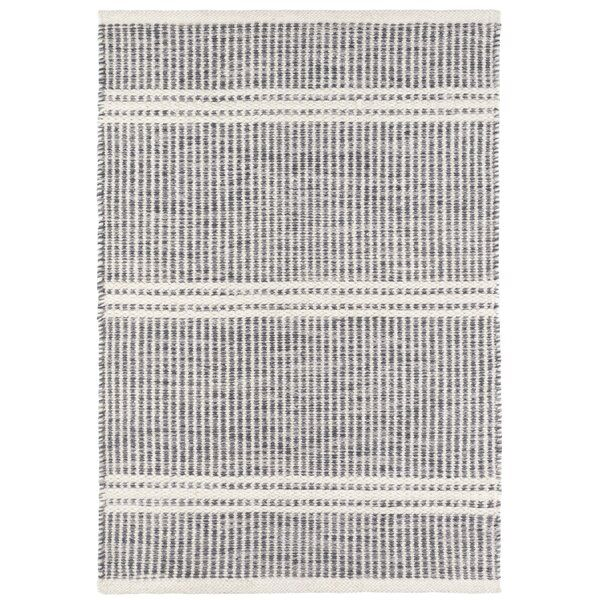 Malta Striped Handmade Flatweave Wool Gray Ivory Area Rug Dash And Albert Rugs Flat Weave Dash And Albert