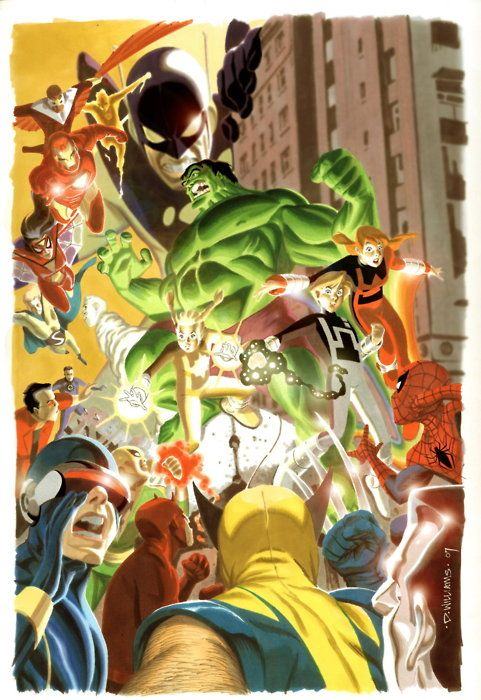 Hulk & Power Pack vs. Marvel Heroes by David Williams