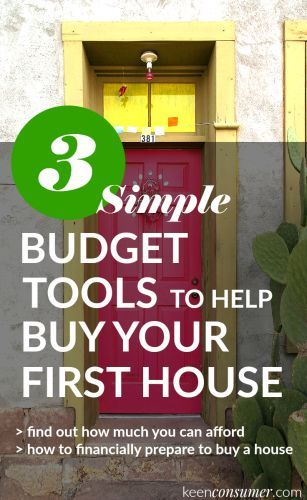Use these 3 simple, free, and easy financial budget tools to help you budget to buy your first house! I used these simple tips to determine if I can afford to own a home & how much house I can buy.