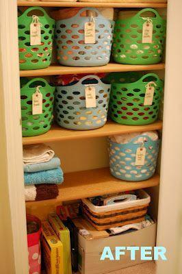 My $10 Linen Closet Redo - My whole process to reorganize my linen closet, from start to finish!