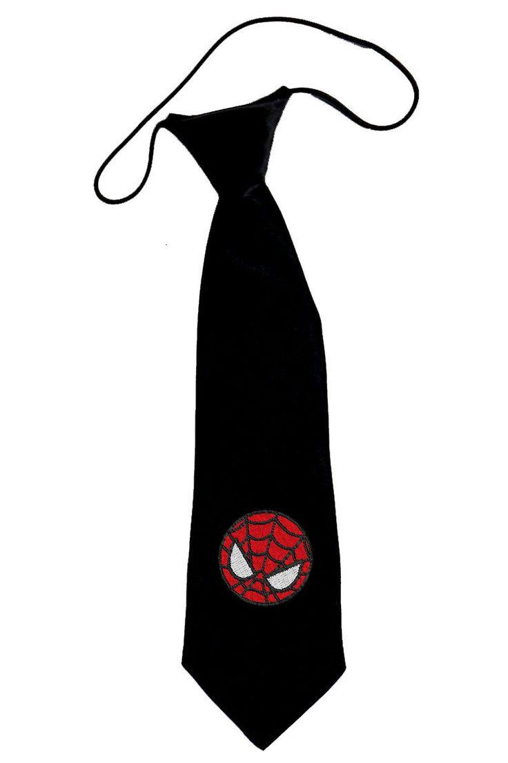 Hand Painted Spiderman Necktie
