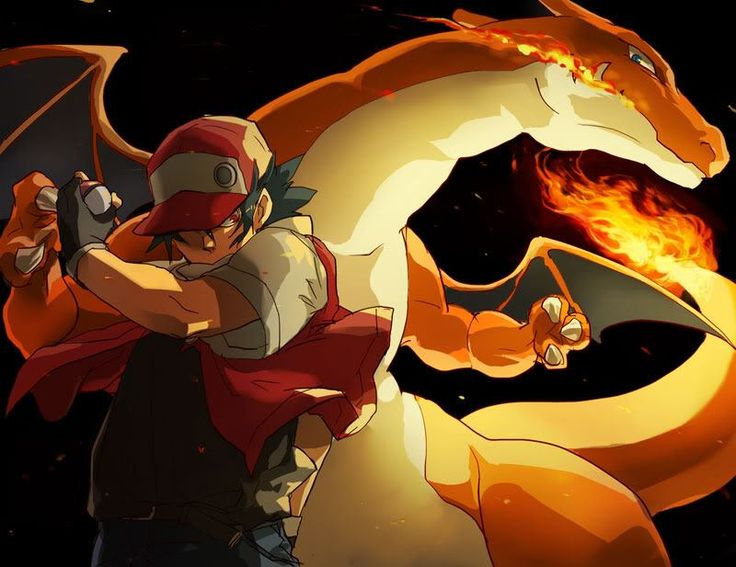 Mighty Red and Charizard.