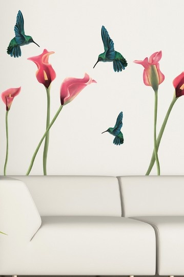 Hummingbirds Removable Wall Decal Set