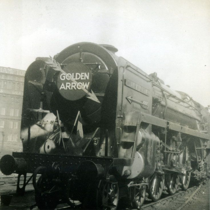 Golden Arrow Steam Train, c1950....watching it go past our house