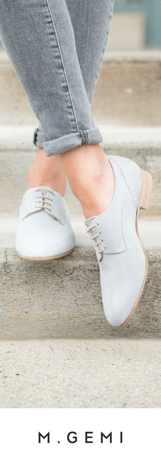 Grey jeans and shoes - LadyStyle