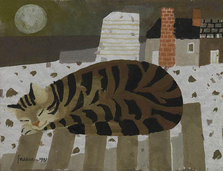 Mary Fedden | Cat Sleeping