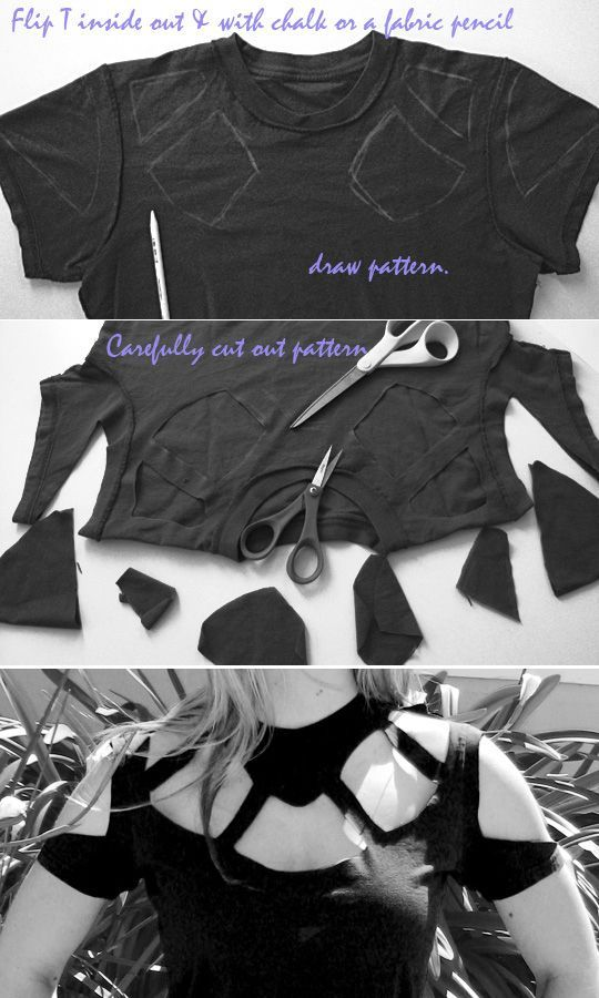 DIY cut-out top