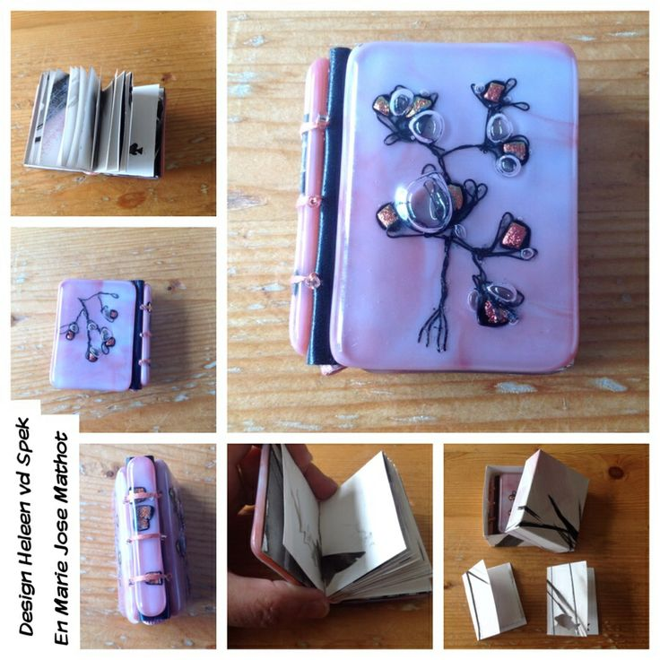 Glazen miniatuurboekje met dichroic