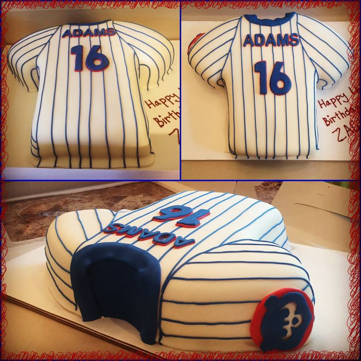 Chicago Cubs Jersey Cake
