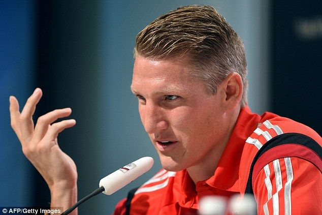 Warning: Germany midfielder Bastian Schweinsteiger has urged referees to be wary of Brazil...