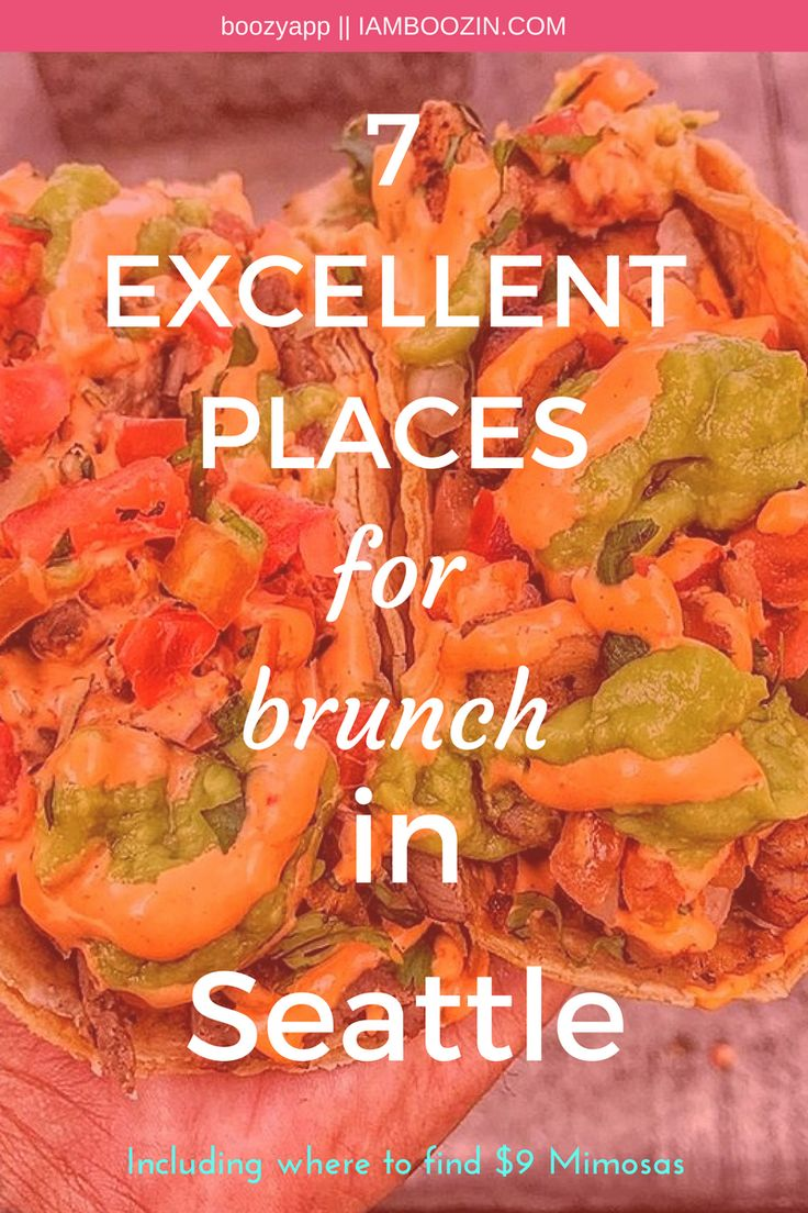 Best Brunch Seattle | 7 Excellent Places For Brunch In Seattle [Including where to find $9 Mimosas]...Click through for more!  Brunch Seattle Seattle Brunch  Brunch In Seattle